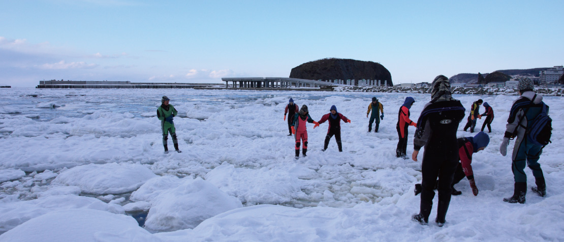 Drift Ice Walk @ Shiretoko Utoro