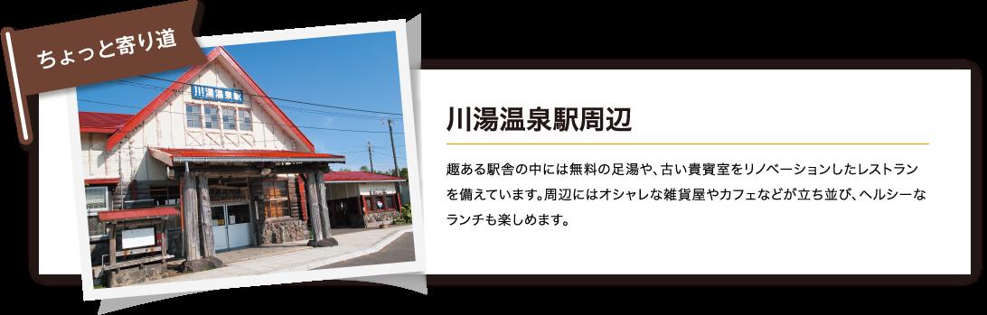 川湯温泉駅周辺